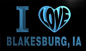 blakesburg city v55130-b I Love BLAKESBURG, IA IOWA City Limit Neon Light Sign