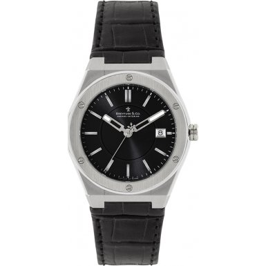 Dreyfuss DGS00086/20 Quartz Stainless Steel Case Black Calfskin Mineral Men's Watch