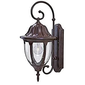 Acclaim 5061BW Suffolk Collection 1-Light Wall Mount Outdoor Fixture, Burled Walnut