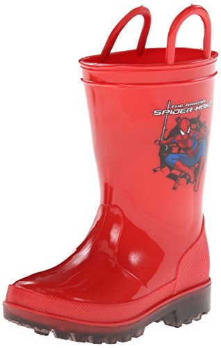 Favorite Characters Boy'S Ultimate Spiderman Rainboot 1Spf505 (Toddler/Little Kid) Red 10 Toddler M front-980448