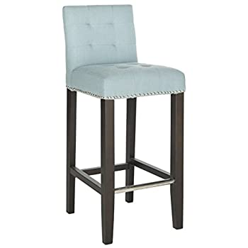 Safavieh Mercer Collection Thompson Barstool, Sky Blue