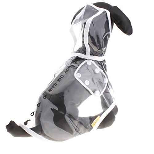 Haustier Hund Regenmantel Regen-Mantel-Jacke Wasserdicht Glatte Kleidung (M) -