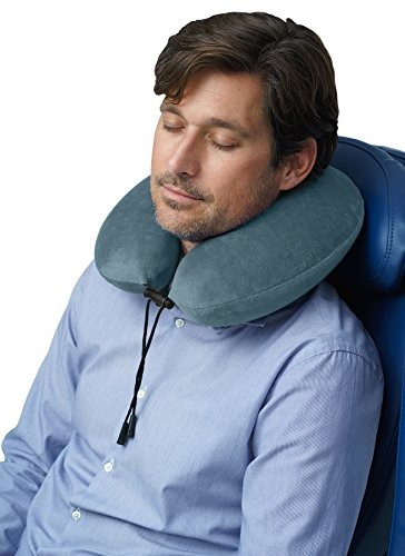 Travelrest - Therapeutic Memory Foam Travel & Neck Pillow - Washable Micro-Fiber Cover - Attaches to Luggage -- Molds Perfectly To Your Neck And Head (2-Year Warranty)
