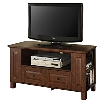 "44"" Living Room Multi-purpose Wood TV Console in Medium Brown Finish"