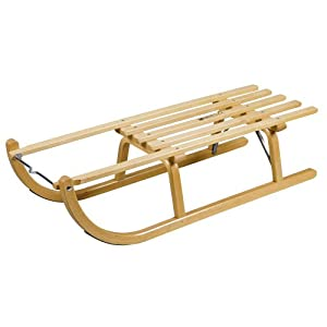 Ress Davos Style Sledge 100 cm Made in Germany Natural Varnish