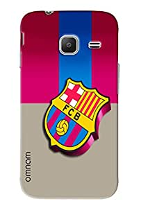 Omnam Printed Back Cover Flag FCB Combi for Samsung Galaxy J1 Ace (J110)