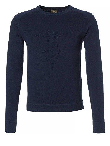 TRUSSARDI Uomini Pullover in maglia blu scuro 48/S