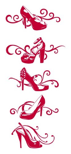 Style & Apply - Designer Shoes - Wall Decal, Sticker, Mural Vinyl Art Home Decor