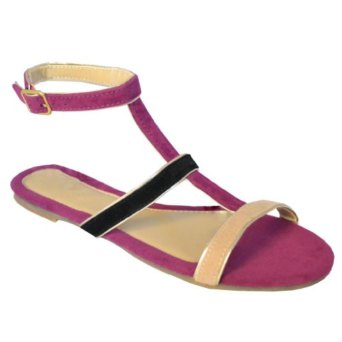 Purple Wedge Sandals