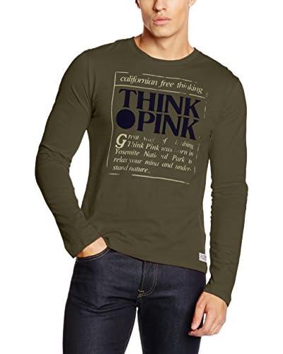 THINK PINK Camiseta Manga Larga Azul Océano