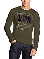 THINK PINK Camiseta Manga Larga (Musgo)