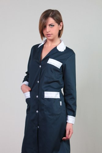 Camice donna cameriera lavoro pulizie casacca cotone camera domestica casa