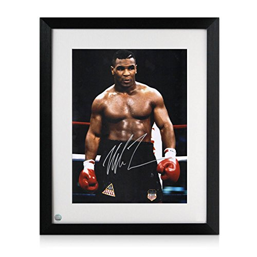 mike-tyson-firmato-e-incorniciato-boxe-foto-baddest-man-on-the-planet