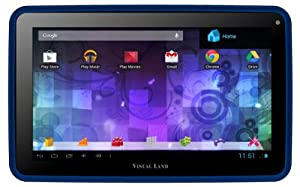 Visual Land Prestige Pro 7D Dual Core Tablet with 8GB of Memory, Google Play and Bonus Case (Royal Blue)
