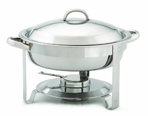 Alegacy AL424A Stainless Steel Top-Shelf Round Chafer, 15-1/4 by 12-1/2 by 11-3/4-Inch