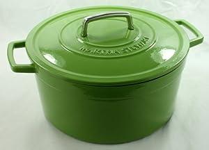Amazon.com: Green Enameled Cast Iron 8 Qt. Round Dutch
