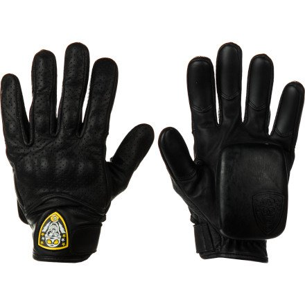 Sector 9 Lightning Adult Slide Skateboard Gloves - Black / Small/Medium