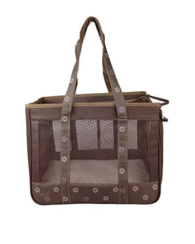 Pet Life Surround View Pet Carrier, Cocoa Brown