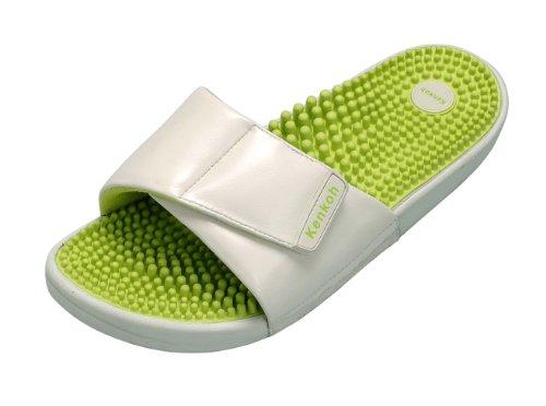 Kenkoh, il sandalo sanitario giapponese che massaggia il piede seguendo i principi della riflessologia giapponese (verde avorio)