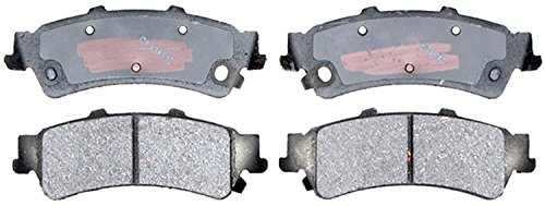 Acdelco 14D792Ch Advantage Ceramic Rear Disc Brake Pad Set With Hardware front-606286