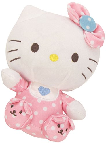 Ty Beanie Babies Hello Kitty Pink Baby with Rattle Plush - 1