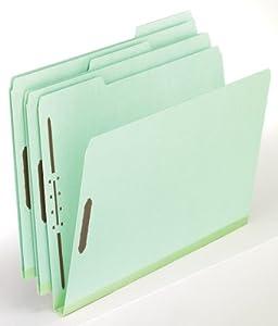 Pendaflex Pressboard Folder With Fasteners, 0.33 Cut, Letter Size, Light Green, 25 Box (17178)