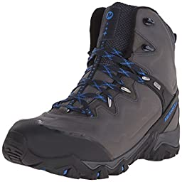 Merrell Men\'s Polarand 8 Waterproof Winter Boot, Carbon, 12 M US