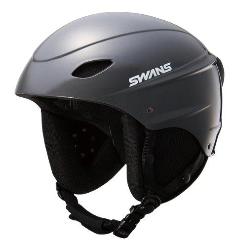 スワンズ スキー・スノーボードヘルメット SWANS H-45R フリーライドヘルメット (ガンメタリック[GMR], L[58-64cm])
