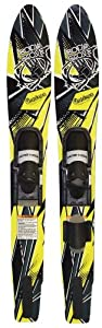 Buy Body Glove Contour Adult Wide Body Water Skis Combo (Yellow Black, 64-Inch) by Body Glove