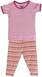 KicKee Pants Baby Girls\' Print Pajama Set (Baby) - Island Girl Stripe - 0-3 Months