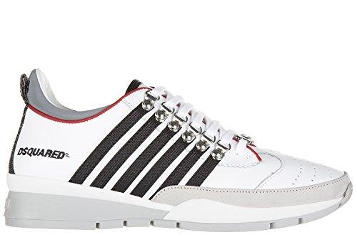 Dsquared2 Herrenschuhe Herren Leder Schuhe Sneakers 251 Weiß EU 43 W16SN101713M072 thumbnail