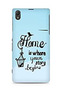 AMEZ home is where your story begins Back Cover For Sony Xperia Z1 C6902