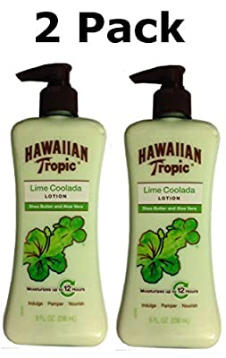 Hawaiian Tropic Lime Coolada Lotion with Shea Butter & Aloe Vera, 8 Fl Oz (2 Pack)