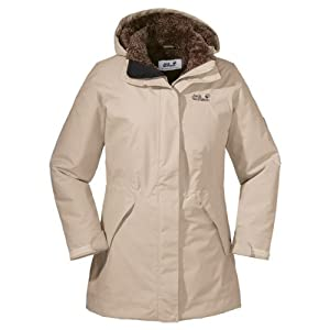 Jack Wolfskin Damen Mantel 5th Avenue Coat, Sahara, XS, 12198-5122001