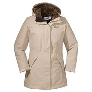 Jack Wolfskin Damen Mantel 5th Avenue Coat, Sahara, XS, 12198-5122001
