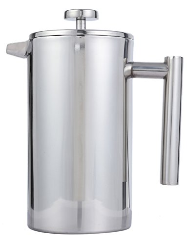 French Press Coffee Pot - Double Wall Stainless Steel French Press Coffee and Tea Maker 1-Liter, 34-Ounce by Juvale (Kroger Coffee Maker compare prices)