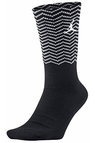 Air Jordan Retro 12 XII Crew Socks Black/White Size L 8-12 (Air Jordans 8 compare prices)