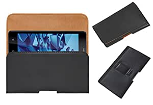 Acm Belt Holster Leather Case For Iball Andi Cobalt Solus 2 Mobile Cover Holder Clip Magnetic Closure Black