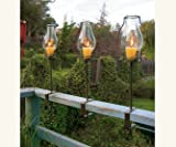 Napa Style Glass Hurricanes Set of Four- For Votive Candles