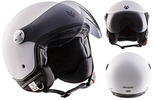 ARROW-AV-84-Vespa-Vintage-Urbano-Piloto-Moto-Motocicleta-Casco-Demi-Jet-Bobber-Scooter-Biker-Mofa-Cruiser-Chopper-Urban-Retro-Helmet-ECE-certificado-Incluyendo-Bolsa-de-Casco