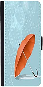 Snoogg Abstract Rainy Season Background With Waterdrops And Clouds Designer Protective Phone Flip Case Cover For Desire 620G Dual Sim