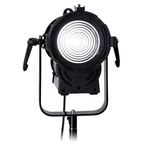 Fotodiox Pro Dy-200 Daylight Fresnel Led, High-Intensity Led Fresnel Light For Film & Television - With Remote Dimmable And Focusable Control, 12V Ac Power Adapter, Light Stand Bracket And Removable Barndoors, Cri > 85