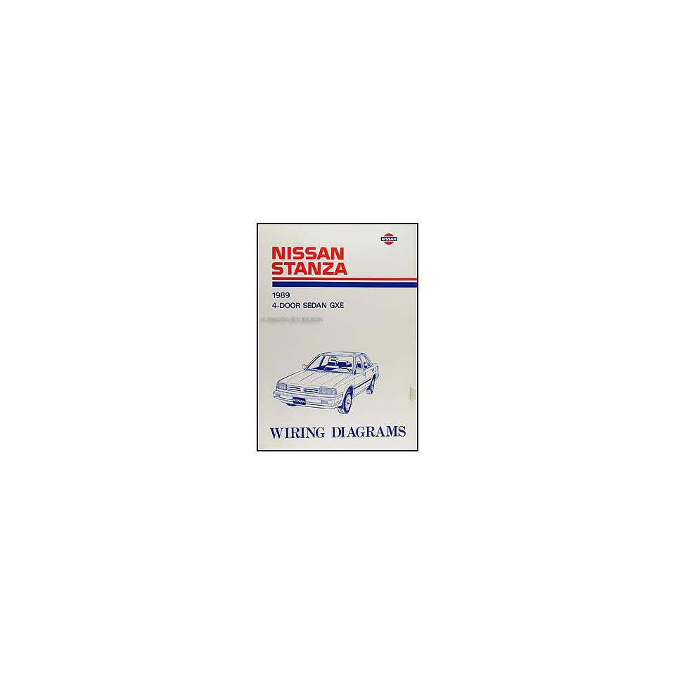 1989 Nissan Stanza Wiring Diagram Manual Original Nissan