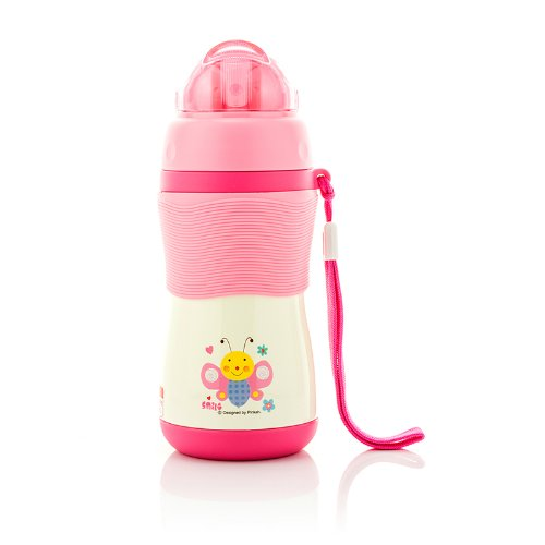 Timmy Stainless Steel Straw Kid's Bottle ,Bpa-free,300ml,tmy-3259 (pink)