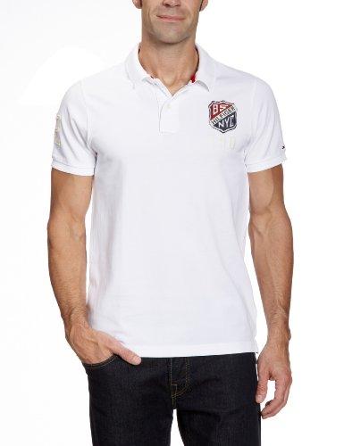 Hilfiger Denim Pilot Badge Short Sleeve Polo Men's T-Shirt Classic White Medium