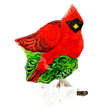 Cardinal Fused Glass Nightlight