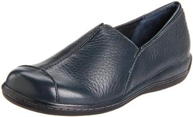 Softwalk Women's Sandee Slip-On Loafer,Navy Leather,9 N US