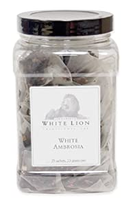 White Ambrosia Fine White Tea, 25 Sachets, White Lion Tea