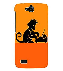 Fuson 3D Printed Animation Designer Back Case Cover for Huawei Honor Holly - D922