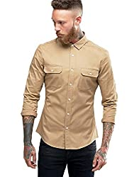 Essential solid casual wear shirt for mens